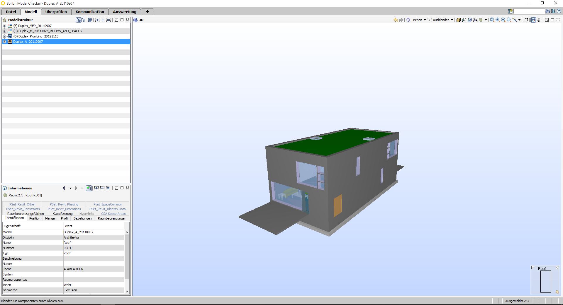 Modell Betrachter / Model Viewer für BIM-Modelle