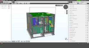 Architektur- und Haustechnikmodell (IFC-Format) im Tekla BIMSight Viewer (Schnittdarstellung)