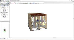 Architektur Modell im IFC-Format im DDS-CAC Viewer